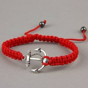 Jewelry - Silver Nautical Boat Anchor Bracelet Rope
